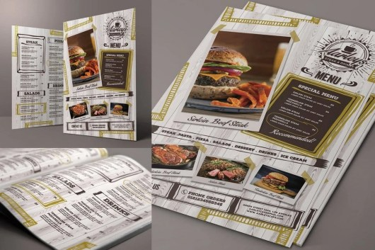 Cafe Food and Drink Menu Template