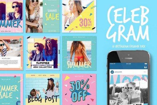 Celebgram - Instagram Post Templates