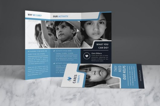 Charity Brochure Church Bulletin Template