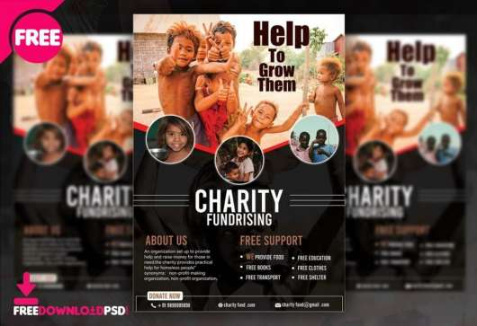Charity Fundraising Flyer & Poster Template