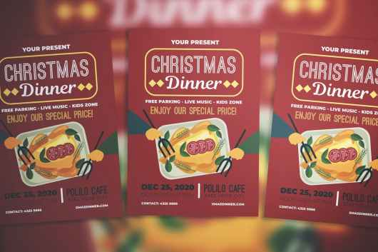 Christmas Dinner Party Flyer