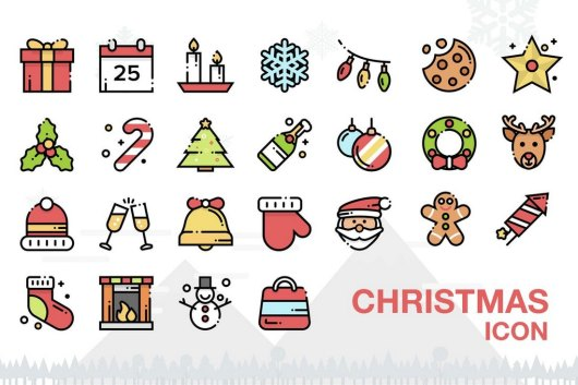 Christmas Outline Icons Pack
