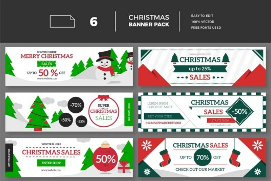 Christmas Sales Banner Collection