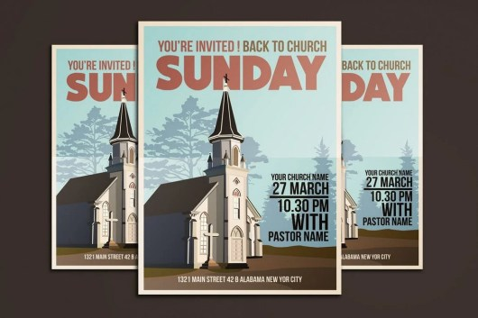 Church Event Flyer Bulletin Template