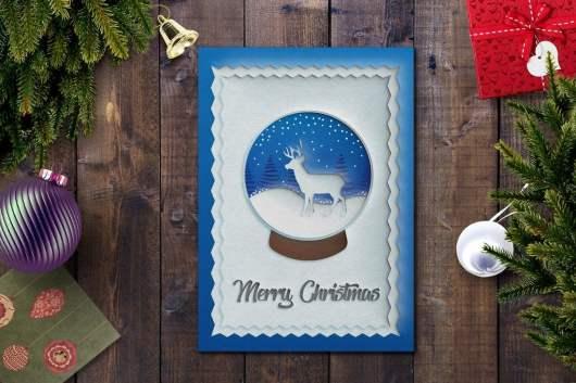 Clean Christmas Card Template