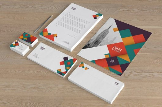 Colorful Pattern Stationery Templates