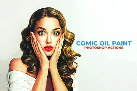 Comic Oil Paint Photoshop Actions