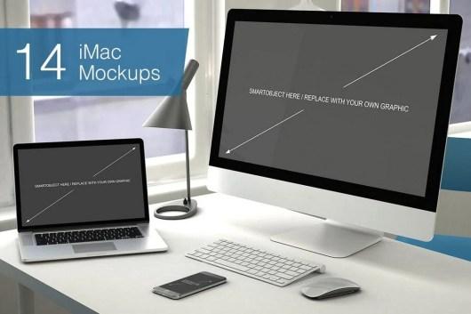 Computer Mockup - 14 Poses