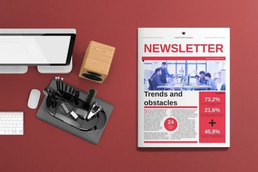 Corporate Newsletter Template for InDesign