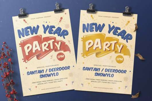 Creative New Year Party Flyer