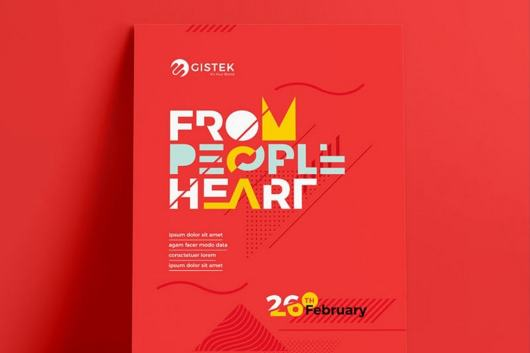 Creative Red Poster Template