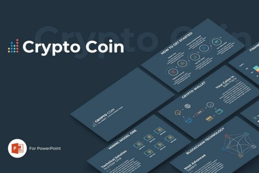 Crypto Coin - Technology Powerpoint Template