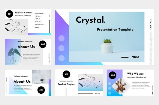 Crystal - Clean PowerPoint Template
