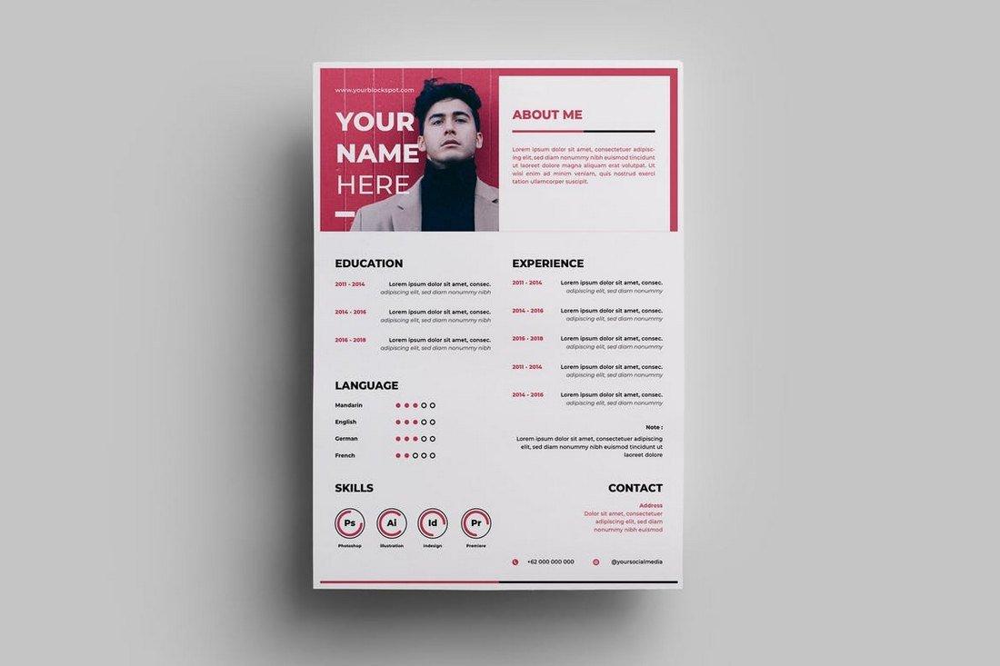 50 Best CV Resume Templates Of 2019