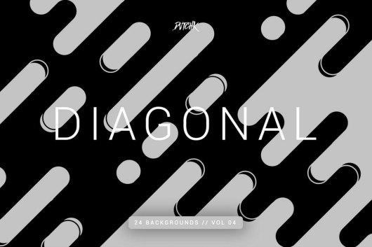 Diagonal - 24 Rounded Lines Subtle Backgrounds