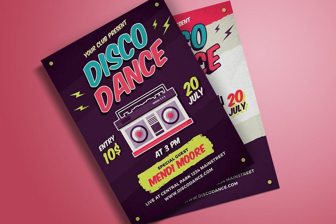 New Age Rock Music Flyer Template