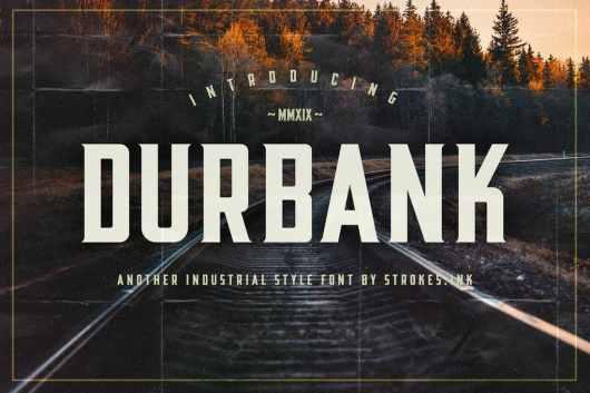 Durbank - Industrial Font