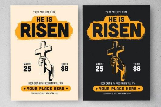 Easter Day Church Bulletin Template