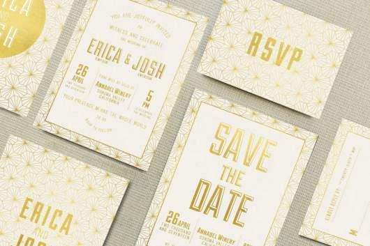 Elegant Geometric Wedding Invitations Templates