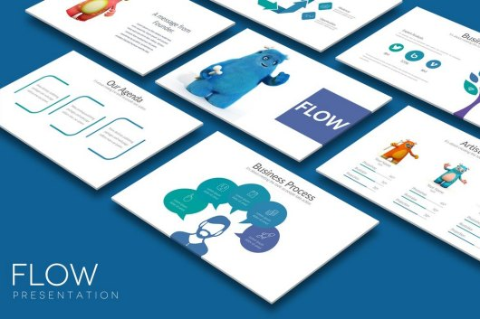 FLOW- Cool Powerpoint Template