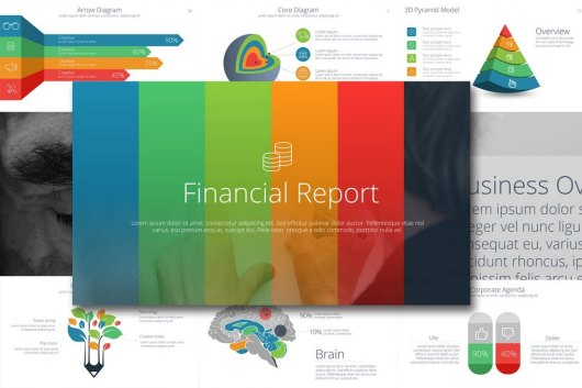 Financial Report Keynote Template