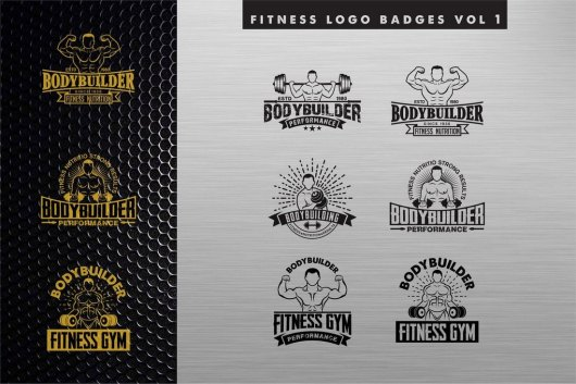 Fitness Logos & Sign Templates