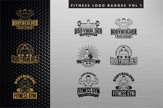 Fitness Logos & Sign Templates