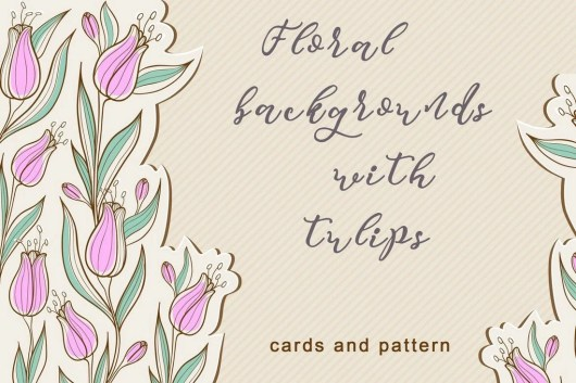 Floral Backgrounds with Tulips
