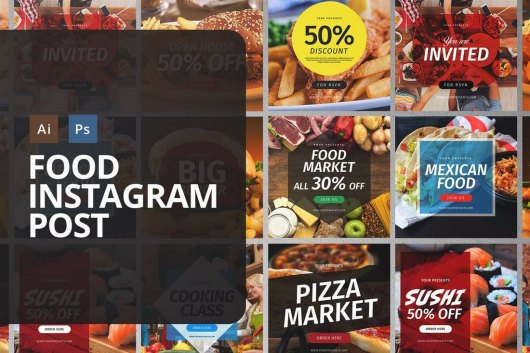 Food Instagram Post Templates