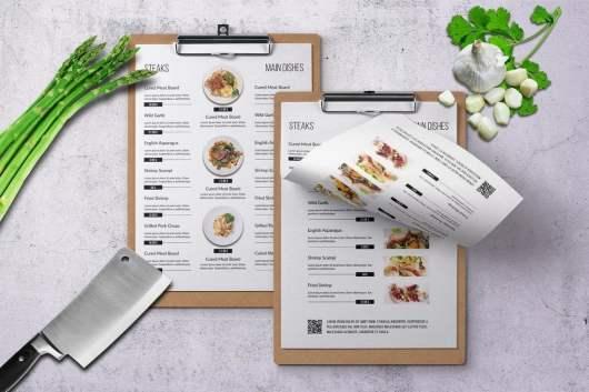 Four Seasons Minimal Food and Drink Menu Template