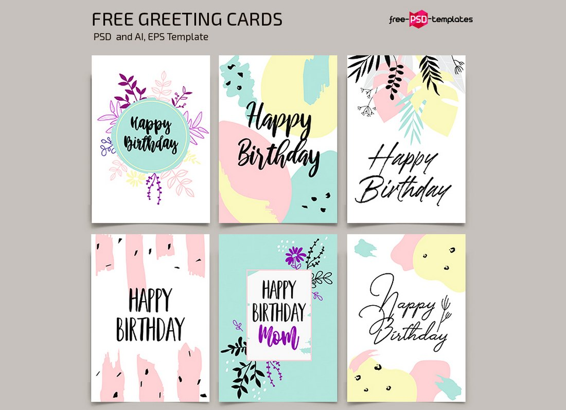 Fortunately, creating unique, easy to make birthday cards is easier than you think. 20 Best Greeting Card Templates For Word Photoshop Illustrator Design Shack