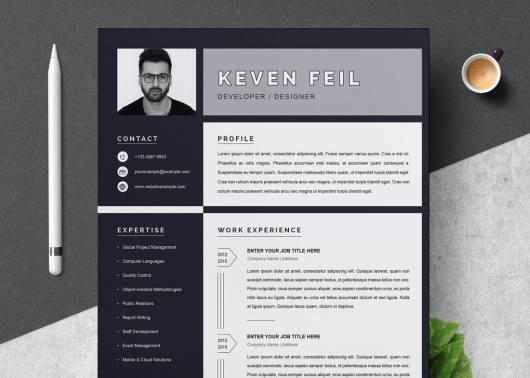 Free Black & White Resume Template