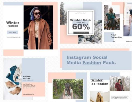 Free Fashion Instagram Templates Pack