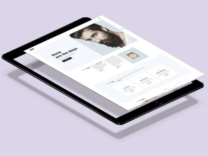Free Flying iPad Pro Mockup