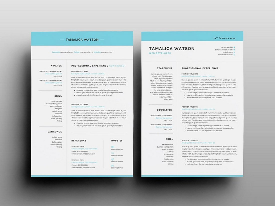 See our selection of free modern resume templates for word & more. 30 Best Free Resume Templates For Word Design Shack