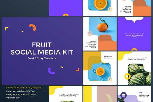Fruit & Food Social Media Kit