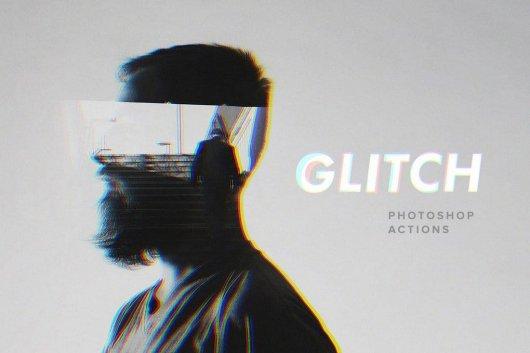 Glitch Photoshop Actions Set