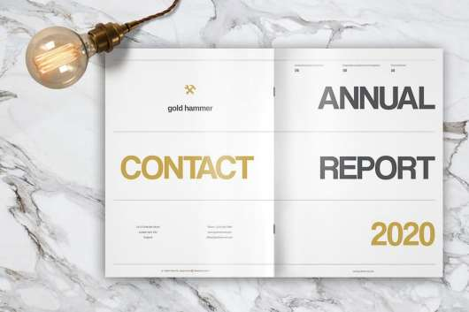Gold Hammer Annual Report Template