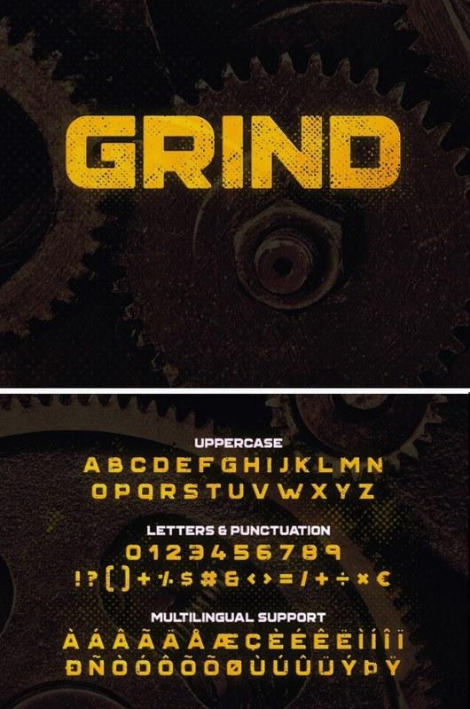 Grind - Bold Typeface
