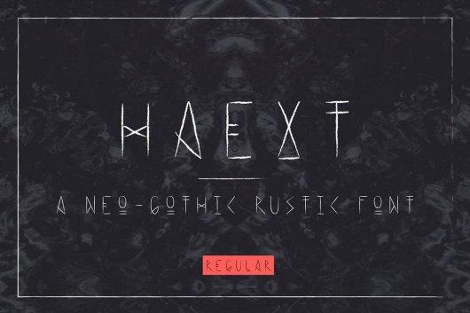 Haext Regular Neo-Gothic Font