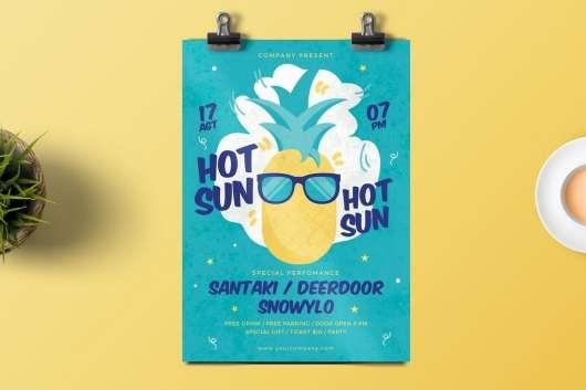 Hot Sun Party Flyer