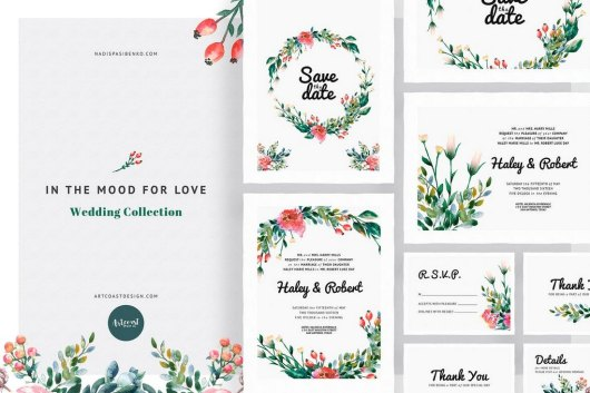 In the Mood for Love Invitations Templates