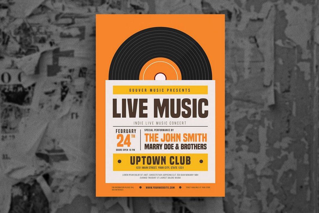 30 best music band flyer templates