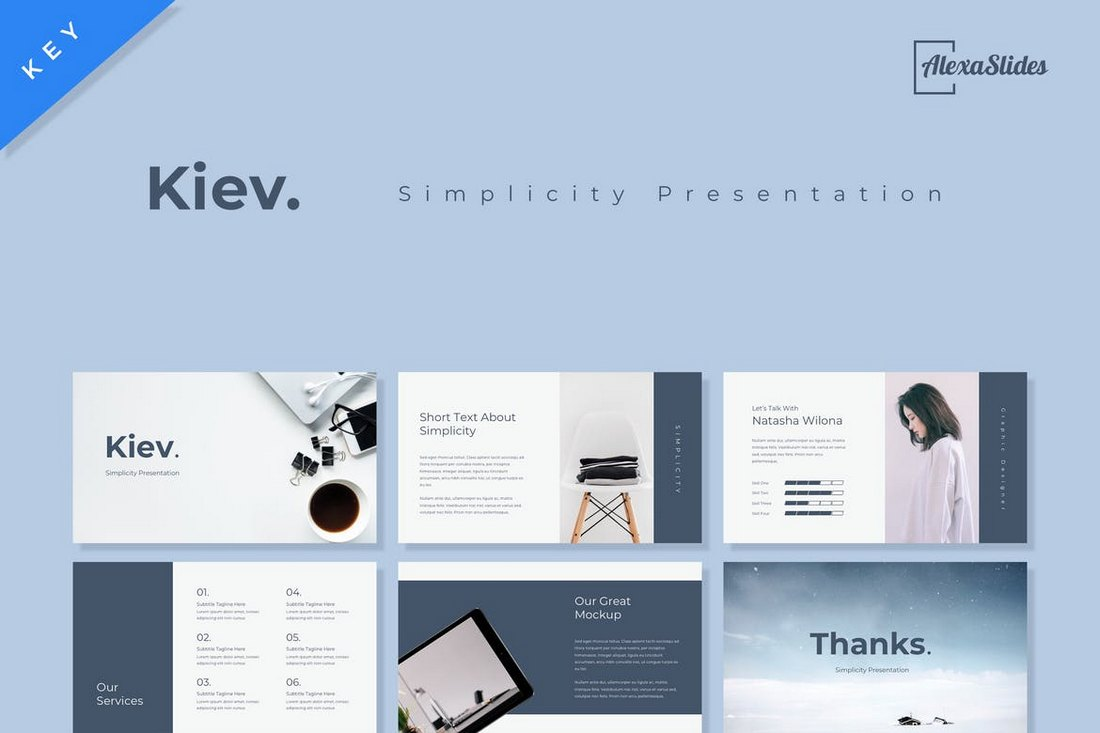 30 Best Minimal Creative Keynote Templates 2019 Pixelhand