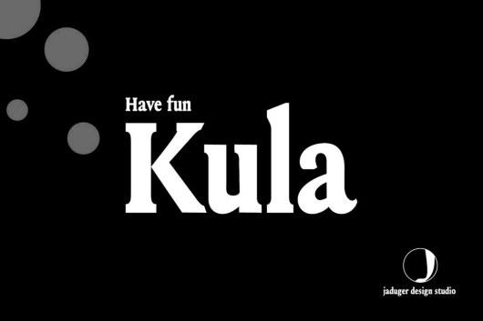 Kula - Bold Serif Font