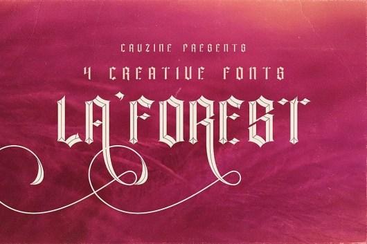 La Forest - Tattoo Font