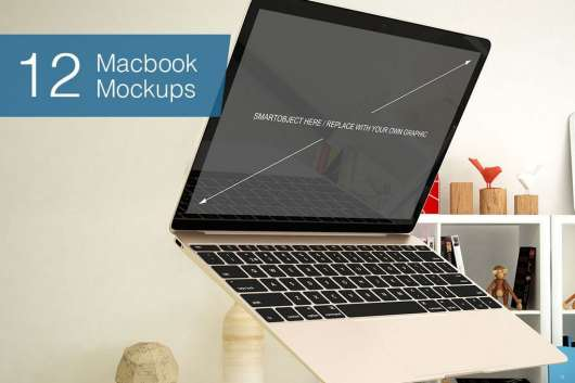 Laptop Mockup - 12 Poses