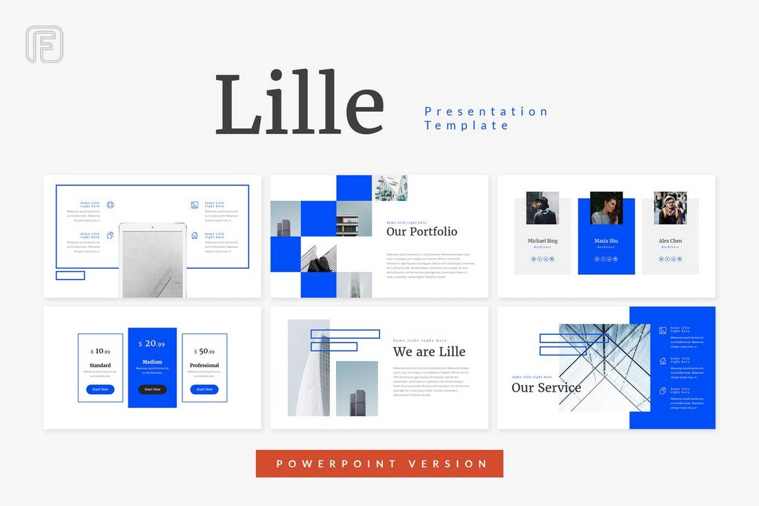Lille - Architecture Powerpoint Template