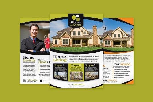 Living Real Estate Flyer Template
