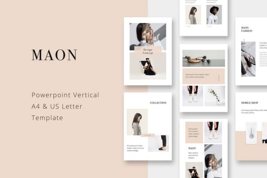 MAON - Vertical PowerPoint Template
